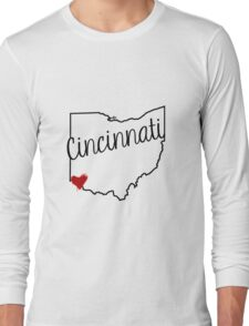 Cincinnati Heart Long Sleeve T-Shirt