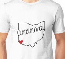 Cincinnati Heart Unisex T-Shirt