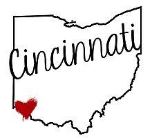 Cincinnati Heart Photographic Print
