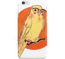 Hipster parakeet iPhone Case/Skin