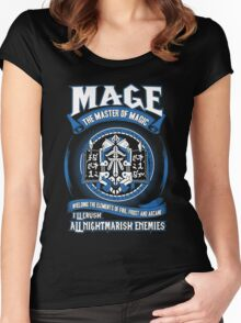 Warcraft - Mage The Master Of Magic Women's Fitted Scoop T-Shirt