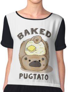 Baked Pugtato Chiffon Top