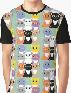 Only Eight Cats Graphic T-Shirt