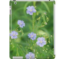 Purple Flax Blossoms greenery iPad Case/Skin