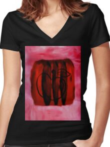 cherry apple Women's Fitted V-Neck T-Shirt