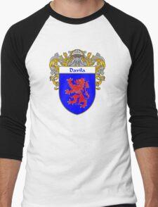 Davila Coat of Arms/Family Crest Men's Baseball ¾ T-Shirt