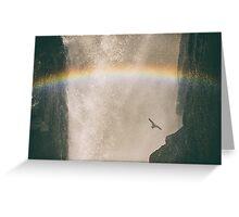Rainbow Flight - Iguazu Falls, Argentina Greeting Card