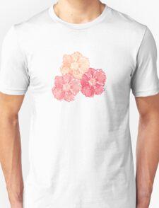 Blossoms (Aqua) Unisex T-Shirt