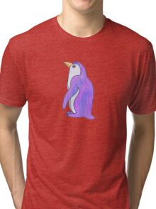 purple and blue penguin Tri-blend T-Shirt