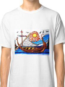 BROWN VIKING BOAT Classic T-Shirt