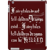 What Fairy Tales Do (GK Chesterton - White Text) iPad Case/Skin