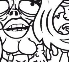 paar pärchen liebe verliebt frau mädchen junge mann 2 team freunde girl untot horror monster halloween  Sticker