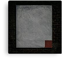 red square. dead pixel. Canvas Print