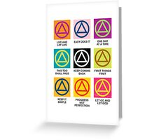 Alcoholics Anonymous Slogans Greeting Card