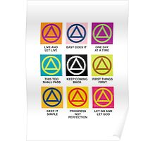 Alcoholics Anonymous Slogans Poster