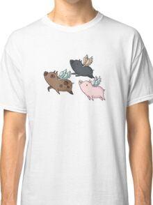 Flock of Flying Pig Classic T-Shirt