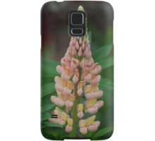 Pink Lupine Stocks and Greenery Samsung Galaxy Case/Skin