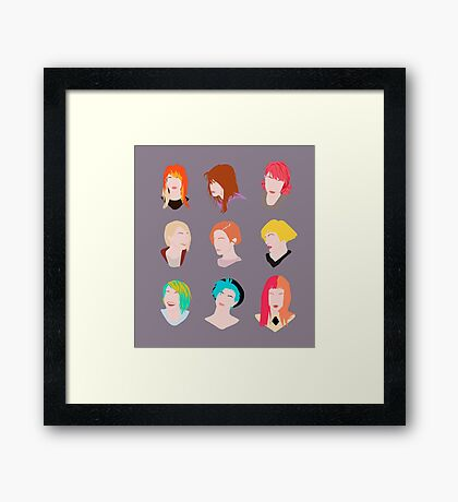 hayley pattern Framed Print