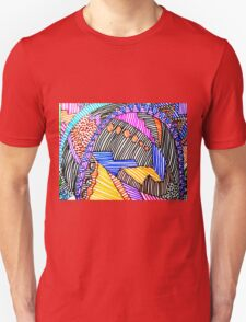 MULTICOLORED LINEAR SCAPE Unisex T-Shirt