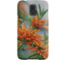 Orange Lions Tail and Greenery Samsung Galaxy Case/Skin