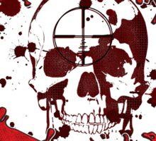 zombie hunter skull Sticker