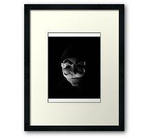 Mr Robot - mask glitch Framed Print