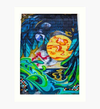 Street Art - Graffiti - Fremantle Western Australia 2015 Art Print