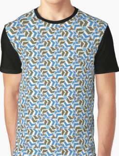 Blue Directions | Pattern Graphic T-Shirt