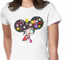 Sweet kawaii girl with watermelon Womens Fitted T-Shirt