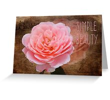 Simple Beauty in Pink Greeting Card