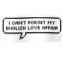 English Love Affair - 5SOS Speech Bubble Poster