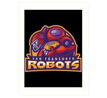 San Fransokyo Robots Art Print