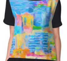 Monaco Abstract Chiffon Top