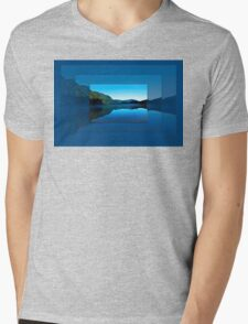Gorilla Creek in the mist Mens V-Neck T-Shirt