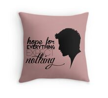 Darren Criss silhouette - quotes [pink] Throw Pillow