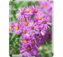 Pink Aster Blossoms, greenery iPad Case/Skin