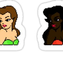 Beautiful Women Pixels Sticker