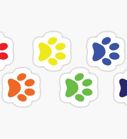 LGBT Dog Paw Prints Sticker