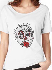 nuckeln kopf gesicht baby schnuller kleinkind kind böse ekelig monster horror halloween zombie design  Women's Relaxed Fit T-Shirt