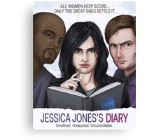 Jessica Jones's Diary Canvas Print