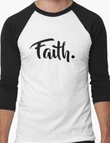Faith. Tshirt (Black) Men's Baseball ¾ T-Shirt