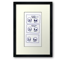 Dumb skull Jokes Framed Print