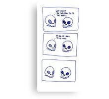 Dumb skull Jokes Canvas Print