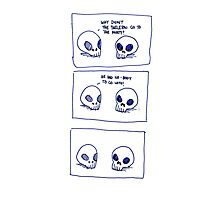 Dumb skull Jokes Photographic Print