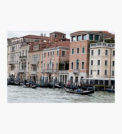 Busy Grand Canal Photographic Print