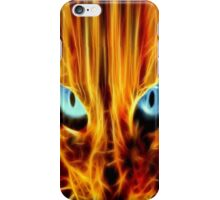 Eyes of the fire cat iPhone Case/Skin