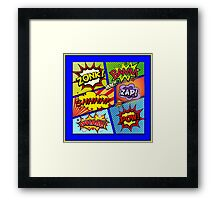 Colorful Comic Book Panels Framed Print