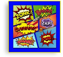 Colorful Comic Book Panels Canvas Print