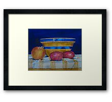 Still Life with Onion and Potatoes Framed Print