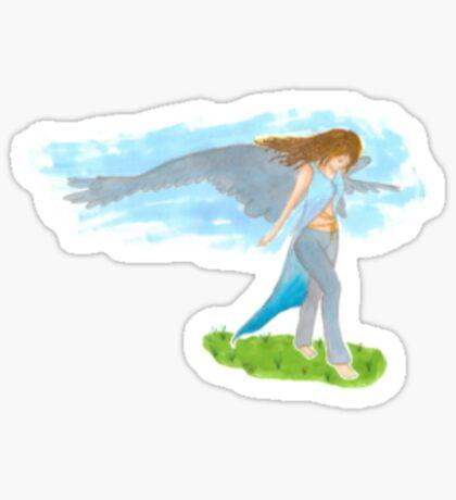 Faded Angel Sticker